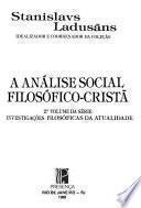 A análise social filosófico-cristã