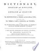 A Dictionary, Spanish and English, and English and Spanish. A new edition, corrected and greatly enlarged