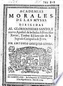 Academias morales, de las mvsas