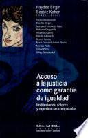 Acceso a la justicia como garantía de igualdad