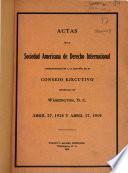 Actas de la Sociedad Americana de derecho internacional