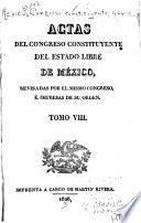 Actas del Congreso Constituyente del estado libre de Mexico