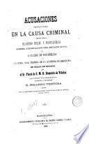 Acusaciones pronunciadas contra Claudio Feliu y Fontanills sobre usurpación del estado civil (estade civil) de D. Claudio de ...