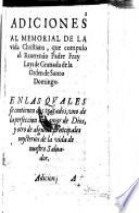 Adiciones al memorial de la vida christiana (etc.)