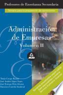 Administracion de Empresas. Profesores de Enseñanza Secundaria. Volumen Ii. E-book