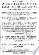 Advertencias a la historia del Padre Ivan de Mariana...