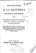 Advertencias á la historia del Padre Juan de Mariana