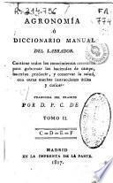 Agronomía o Diccionario manual del labrador