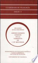 Americanismos léxicos en la narrativa de J. M. Arguedas
