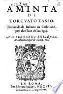 Aminta; traduzido de Italiano en Castellano por Juan de Jauregni