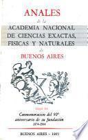 Anales de la Academia Nacional de Ciencias Exactas, Físicas y Naturales de Buenos Aires