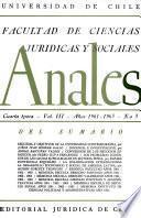 Anales de la facultad de Ciencias juridicas y sociales Vol III