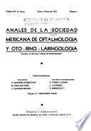 Anales de la Sociedad Mexicana de Oftamología y Oto-Rino-Laringología
