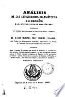 Análisis de las antigüedades eclesiásticas de España