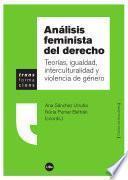 Análisis feminista del derecho. Teorías, igualdad, interculturalidad y violencia de género