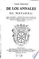 Annales Del Reyno De Navarra