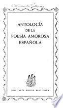 Antología de la poesía amorosa española