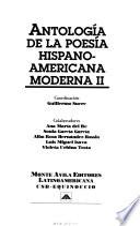 Antología de la poesía hispanoamericana moderna