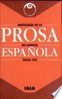 Antología de la prosa en lengua española