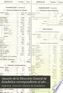Anuario de la Dirección General de Estadística correspondiente al año ...