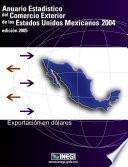 Anuario estadístico del comercio exterior de los Estados Unidos Mexicanos 2004. Exportación en dólares