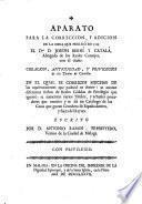 Aparato para la correccion, y adicion de la obra que publicó en 1769 el Joseph Berní y Catalá ... con el título Creacion, antiguedad, y privilegios de los títulos de Castilla ...