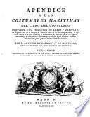 Apendice a las costumbres maritimas del Libro del Consulado