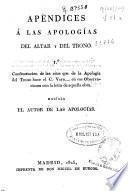 Apéndices a las apologias del altar y del trono