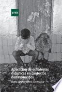 Aplicación de estrategias didácticas en contextos desfavorecidos