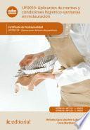 Aplicación de normas y condiciones higiénico-sanitarias en restauración. HOTR0109