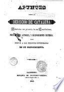 Apuntes sobre el derecho de Cataluña