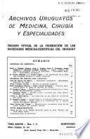 Archivos uruguayos de medicina, cirugía y especialidades