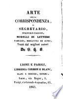 Arte de la correspondencia en italiano y español