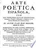 Arte poetica española
