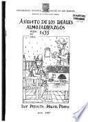 Asiento de los reales almojarifazgos, 1635