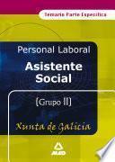 Asistente social de la xunta de galicia .Temario