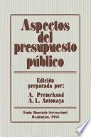 Aspectos del presupuesto público