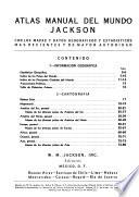 Atlas manual del mundo Jackson, con los mapas y datos geograficos y estadisticos mas recientes y de mayor autoridad