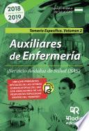 Auxiliares de Enfermería del Servicio Andaluz de Salud. Temario Especifico. Vol 2.