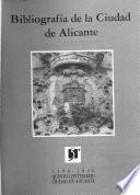 Bibliografía de la Ciudad de Alicante