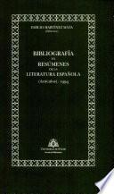 Bibliografía en resúmenes de la literatura española (artículos)