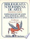 Bibliografía novohispana de arte