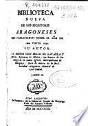 Biblioteca nueva de los escritores aragoneses