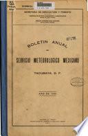 Boletín anual del Servicio Meteorológico Mexicano