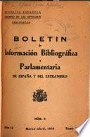Boletín de Información Bibliográfica y Parlamentaria de España y del Extranjero