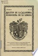 Bolétin de la Academia Hondureña de la Lengua