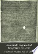 Boletín de la Sociedad Geográfica de Lima
