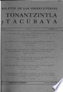 Boletin de los observatorios de Tonantzintla y Tacubaya