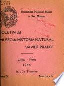 Boletín del Museo de Historia Natural