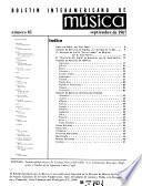 Boletín interamericano de música